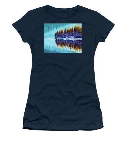 Winter - Mountain Lake Women's T-Shirt