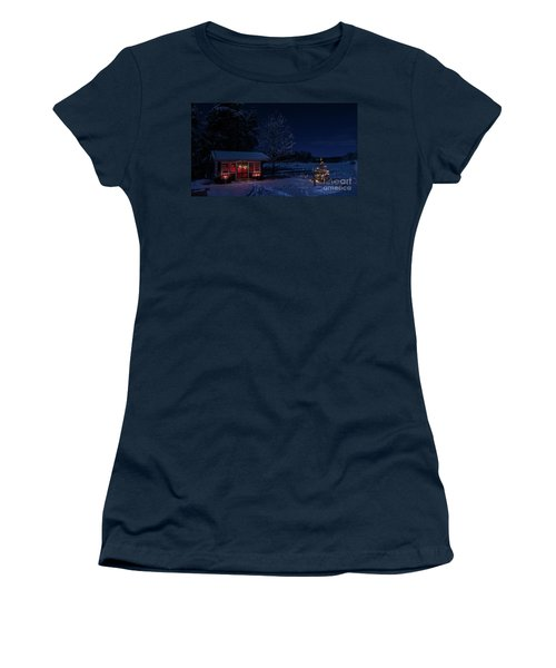 Women's T-Shirt (Junior Cut) featuring the photograph Winter Night by Torbjorn Swenelius