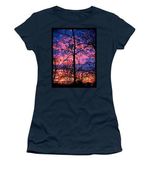 Winter Sunrise Women's T-Shirt (Junior Cut) by Betty Buller Whitehead