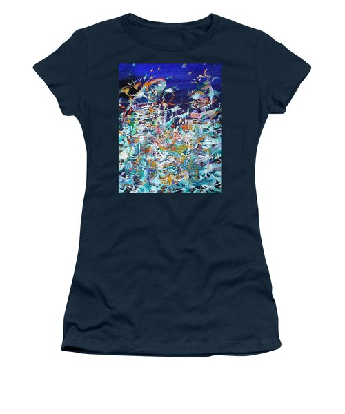 Women's T-Shirt (Junior Cut) featuring the painting Wishes by Fabrizio Cassetta