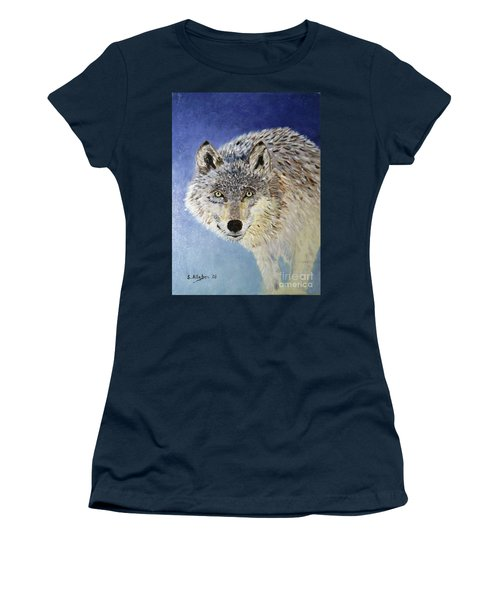 Wolf Study Women's T-Shirt (Athletic Fit)