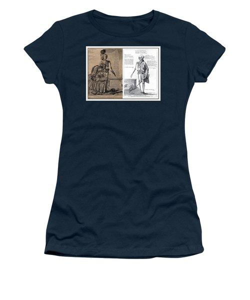 Women's T-Shirt (Junior Cut) featuring the digital art Woman And A Man by Maciek Froncisz