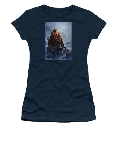 Women's T-Shirt (Junior Cut) featuring the digital art Wonders Holy Temple by Te Hu