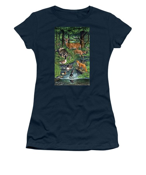 Woodland Women's T-Shirt (Athletic Fit)