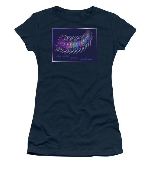 Wooly Caterpillar Haiga Women's T-Shirt (Athletic Fit)