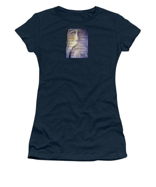 Works Of Mercy Women's T-Shirt (Junior Cut) by Jean OKeeffe Macro Abundance Art