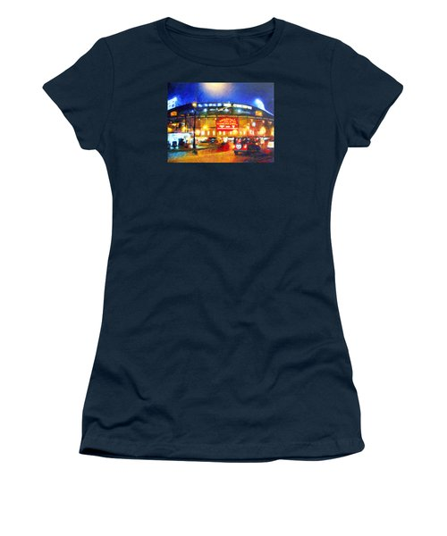 Wrigley Field Home Of Chicago Cubs Women's T-Shirt (Athletic Fit)