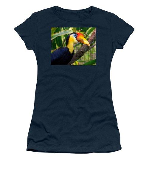 Wrinkled Hornbill Women's T-Shirt (Junior Cut) by Susanne Van Hulst