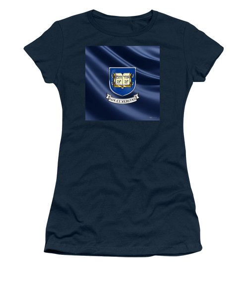 Yale University Coat Of Arms.  Women's T-Shirt (Junior Cut) by Serge Averbukh