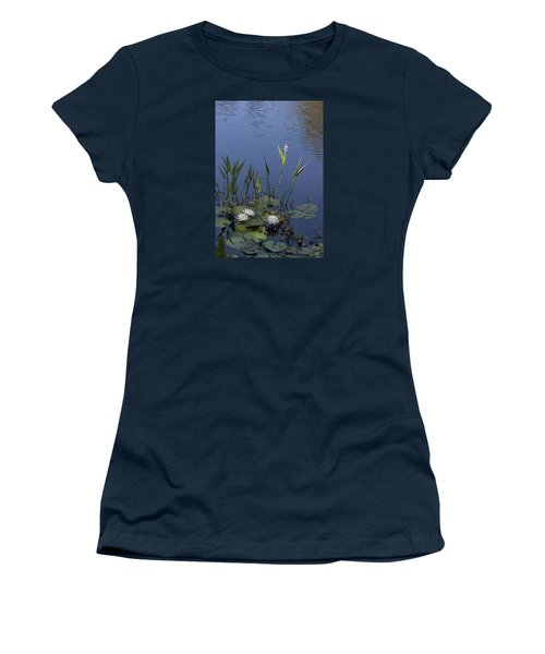Yawkey Wildlife Reguge Water Lilies With Rare Plant Women's T-Shirt (Junior Cut) by Suzanne Gaff