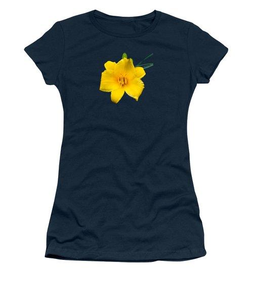 Yellow Daylily Flower Women's T-Shirt