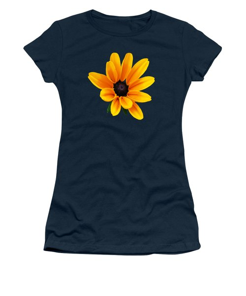 Yellow Flower Black-eyed Susan Women's T-Shirt (Junior Cut) by Christina Rollo
