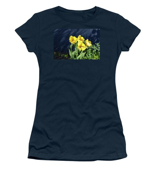 Women's T-Shirt (Junior Cut) featuring the photograph Yellow Tulips by Kathleen Stephens