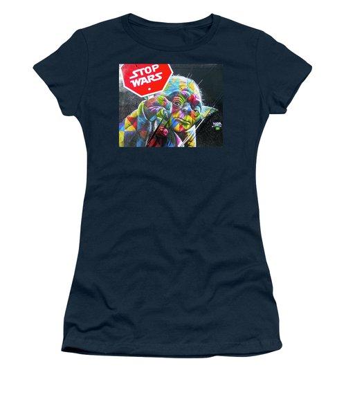 Yoda - Stop Wars Women's T-Shirt