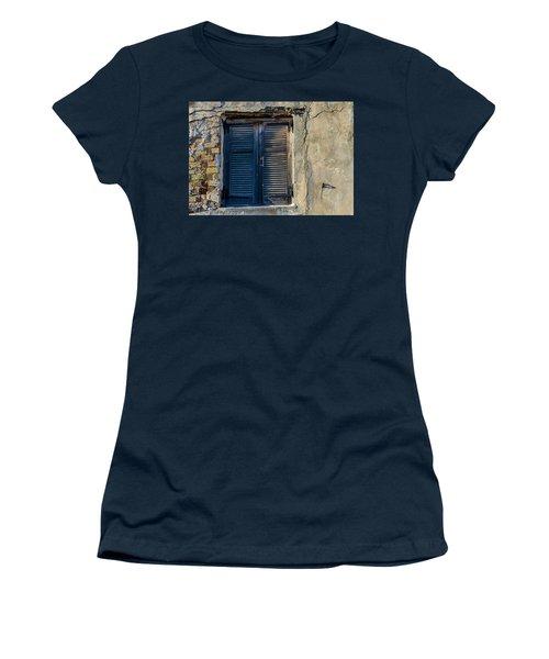 Zakynthos Town Window Women's T-Shirt (Junior Cut) by Rainer Kersten