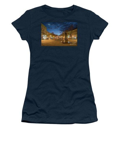 Zmaj Jovina Street In Moonlight Women's T-Shirt (Athletic Fit)