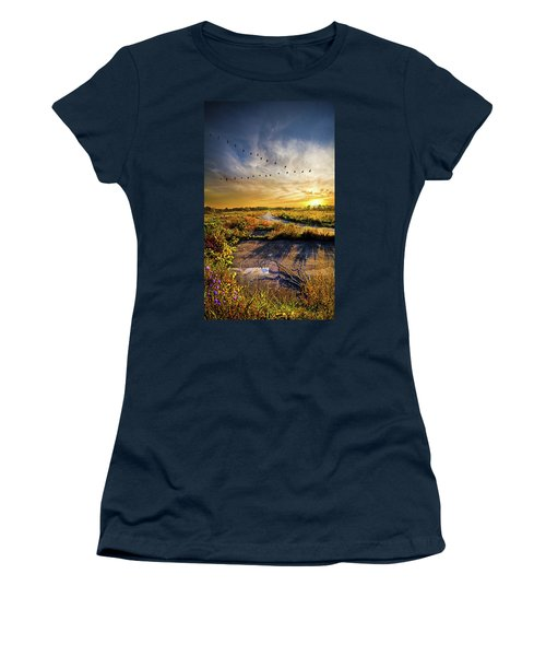 Women's T-Shirt featuring the photograph An Old Road by Phil Koch