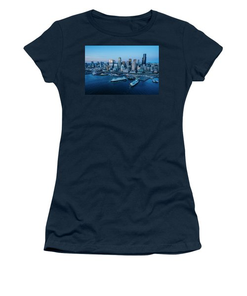 Aerial View Of A City, Seattle, King Women's T-Shirt