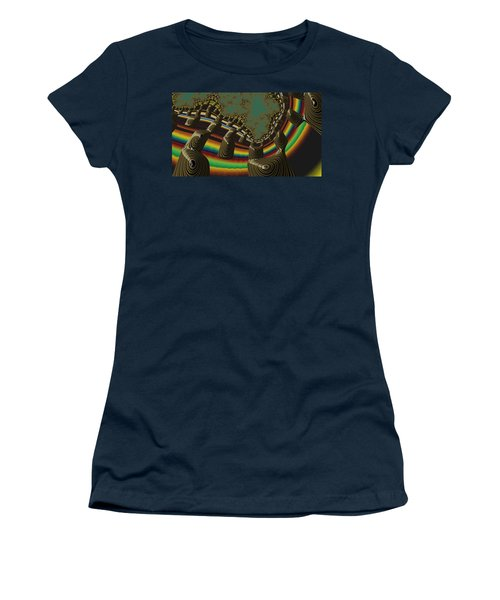 Women's T-Shirt featuring the digital art Ancient Civilizations Fractal Abstract by Shelli Fitzpatrick