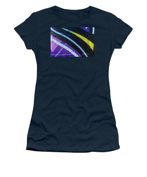 Background With Wall Texture Painted With Colorful Lines. Women's T-Shirt