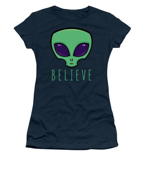 Believe Alien Head Women's T-Shirt