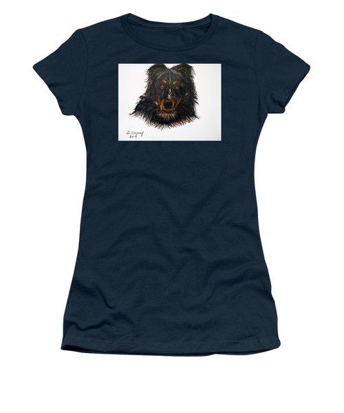 Border Collie Cross  Women's T-Shirt