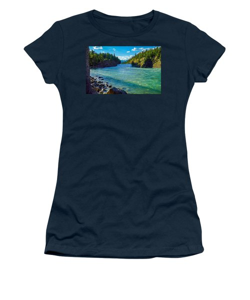 Bow River In Banff Women's T-Shirt