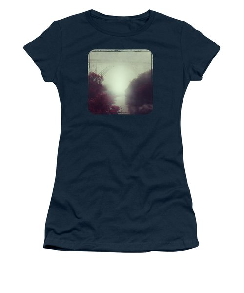 Bridge And River In Fog Women's T-Shirt