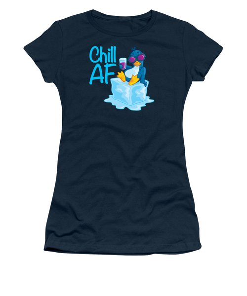 Chill Af Penguin On Ice Women's T-Shirt