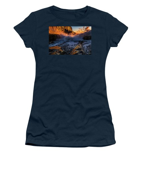 Women's T-Shirt featuring the photograph Crash by Jeff Sinon