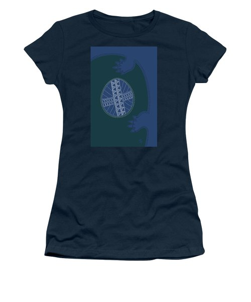 Women's T-Shirt featuring the digital art Crocodile Egg by Attila Meszlenyi