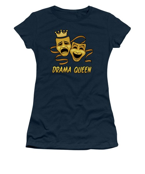 Drama Queen Comedy And Tragedy Gold Theater Masks Women's T-Shirt