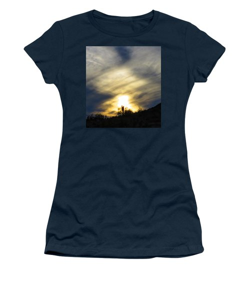 Women's T-Shirt featuring the photograph Exuberant Sun Pillar by Judy Kennedy