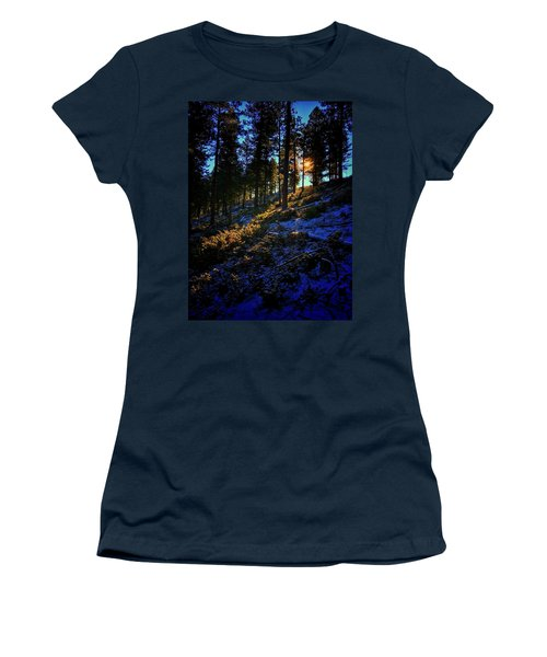 Women's T-Shirt featuring the photograph Forest Sunrise by Dan Miller