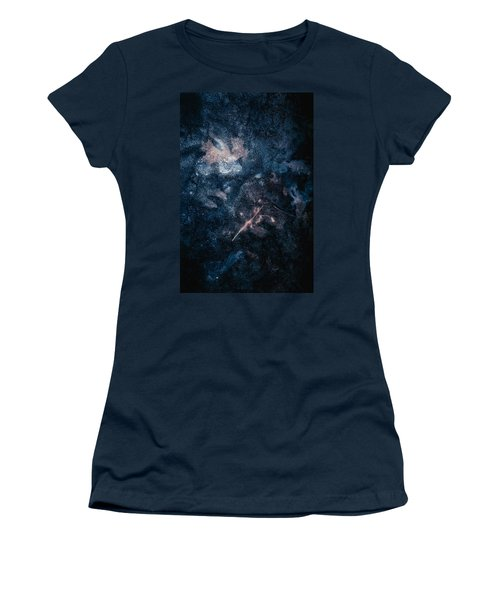 Women's T-Shirt featuring the photograph Frozen Leaves by Allin Sorenson