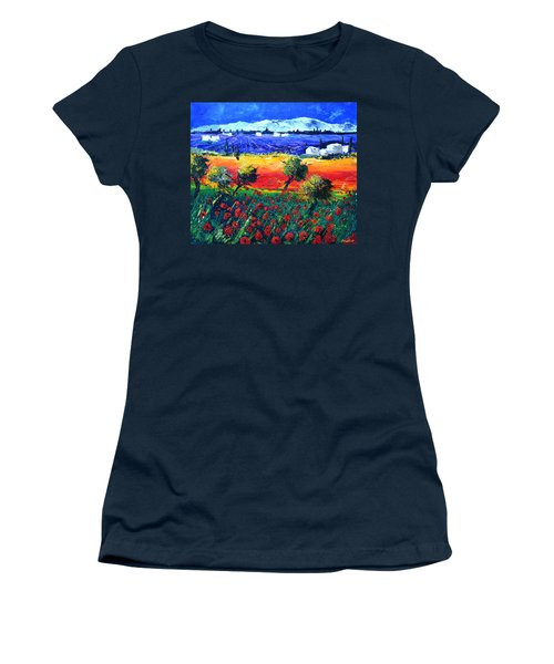 Lavender Poppies Provence Women's T-Shirt