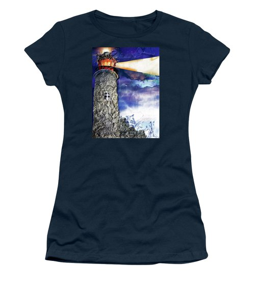 Light Of The World Torn Paper Collage Women's T-Shirt