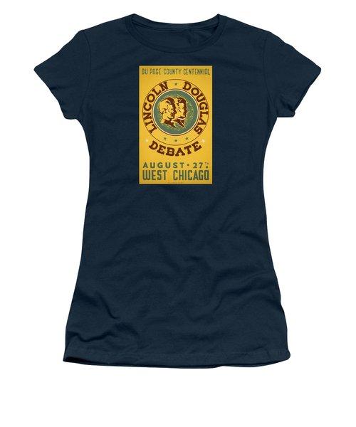 Lincoln Douglas Debate - Wpa - 1939 Women's T-Shirt