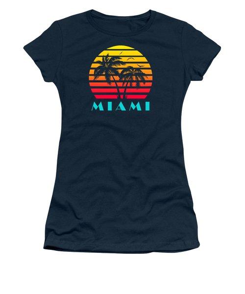 Miami 80s Tropical Sunset Women's T-Shirt