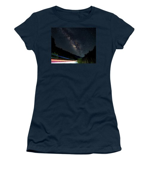 Women's T-Shirt featuring the photograph Milky Way Over The South Road by William Dickman