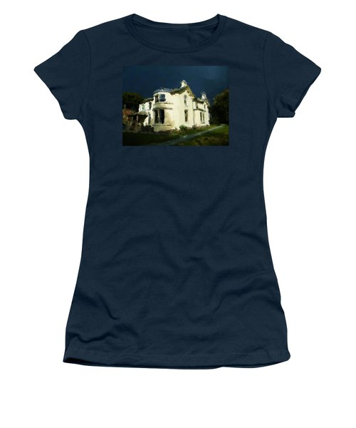 Moody Sky Over Allenbank Painting Women's T-Shirt