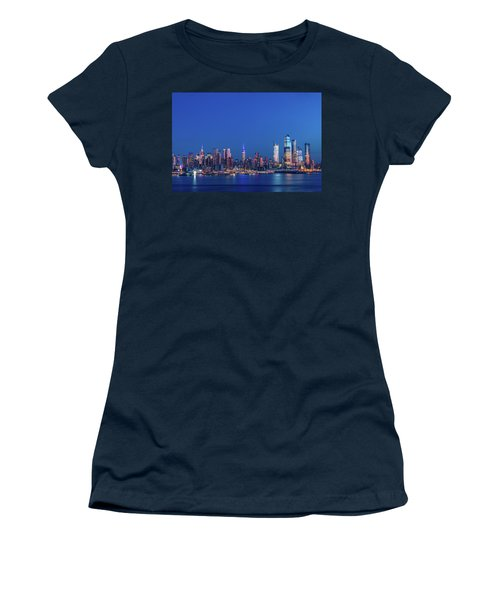 Women's T-Shirt featuring the photograph Nyc The Blue Hour by Francisco Gomez