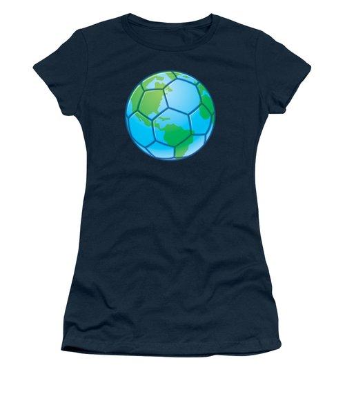Planet Earth World Cup Soccer Ball Women's T-Shirt