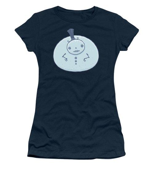 Pudgy Snowman Women's T-Shirt