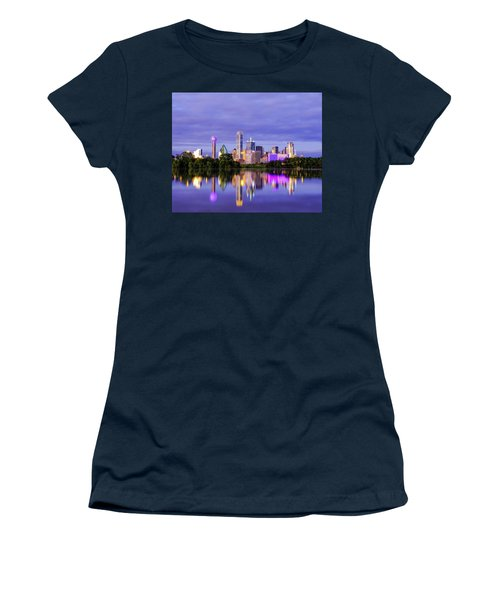 Purple Rain City Of Dallas Texas Women's T-Shirt