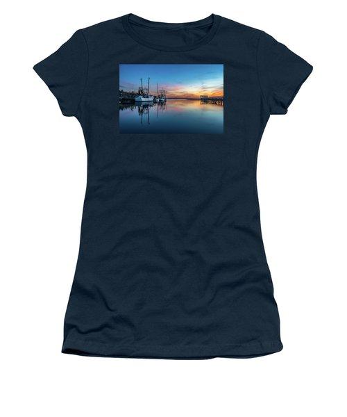 Shem Creek Blue Hour, Mt. Pleasant Sc Women's T-Shirt