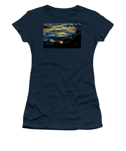 Women's T-Shirt (Athletic Fit) featuring the photograph Small Sunset by Meta Gatschenberger