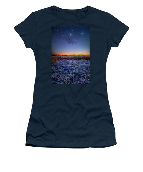 Women's T-Shirt featuring the photograph Softly Spoken Prayers by Phil Koch