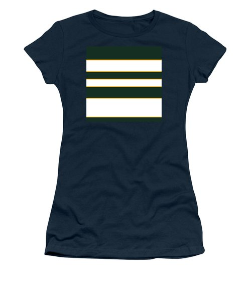 Stacked - Green, White And Yellow Women's T-Shirt