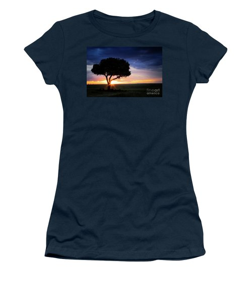Sunset In The Masai Mara Women's T-Shirt